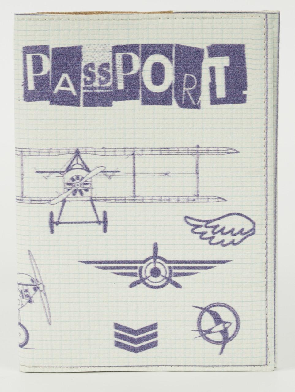 Дизайнерська обкладинка для паспорта з еко шкіри art.104249