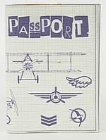 Дизайнерська обкладинка для паспорта з еко шкіри art.104249, фото 1
