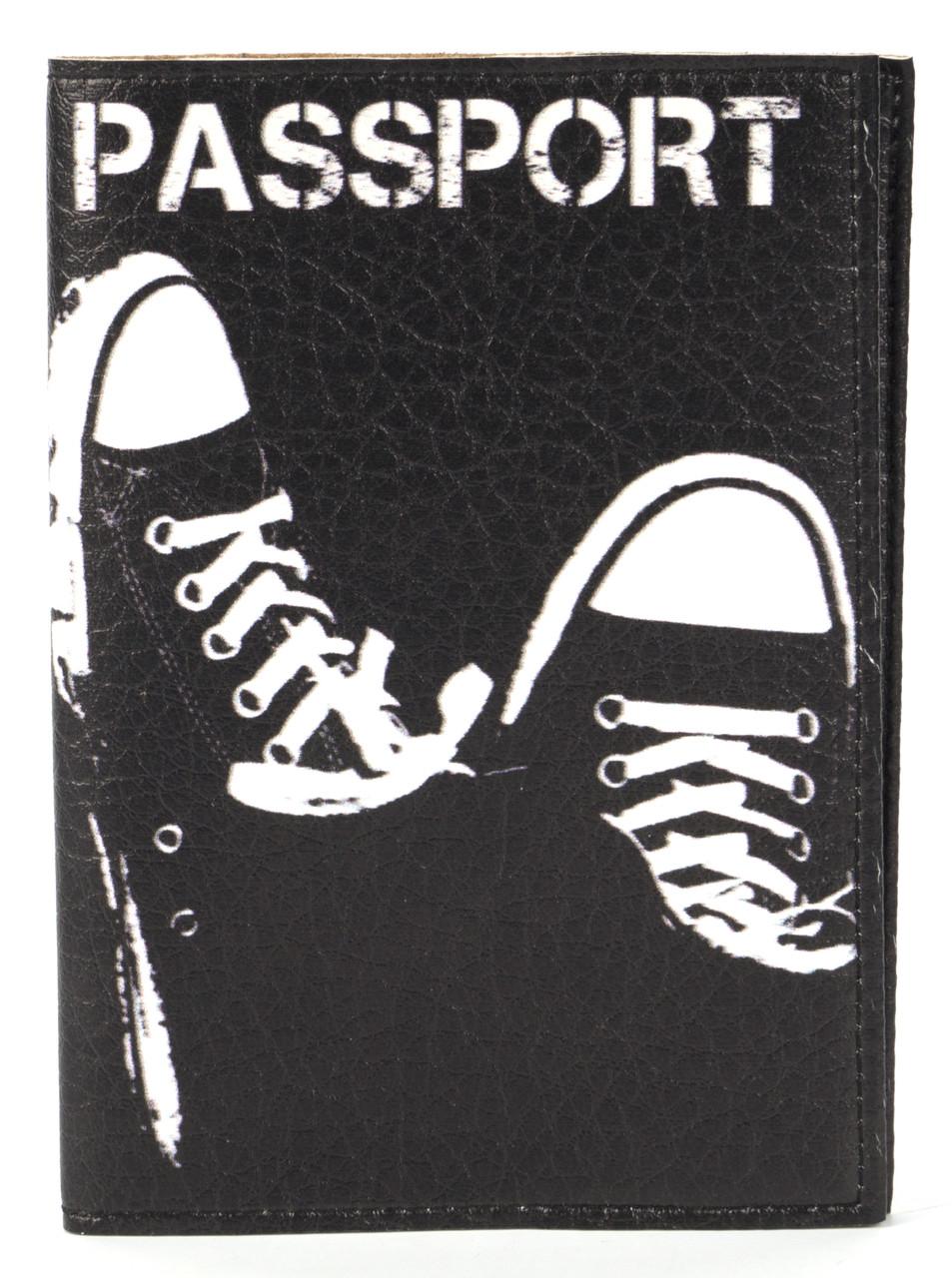 Дизайнерская обложка для паспорта с эко кожи art.104250
