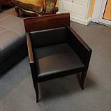 Кресло Selva, 1024 из кожи и дерева под орех, фото 2