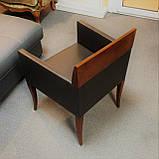 Кресло Selva, 1024 из кожи и дерева под орех, фото 4