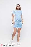 Трикотажный костюм шорты и футболка для беременных и кормящих р. 42-50 ТМ Юла Мама  JANEL ST-20.022