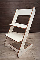 Детский растущий стул Белый