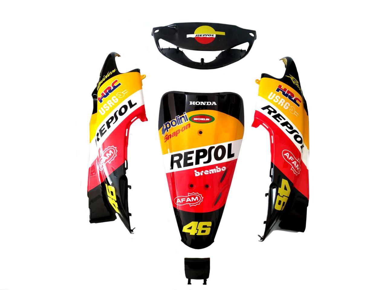 Комплект пластика HONDA DIO AF-34 (разноцветный) repsol жовто-чорний