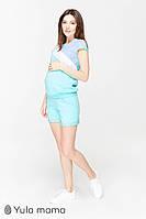 Трикотажный костюм шорты и футболка для беременных и кормящих р. 42 ТМ Юла Мама  IBIZA ST-20.011