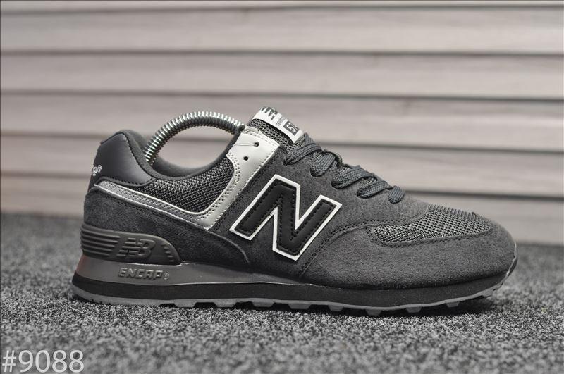 Стильные кроссовки New Balance 574 Black Gray (Нью Беленс)