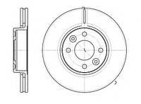 Тормозной диск передний Nissan Tiida ,Note ,Micra ,пр-во ABE C31089ABE, фото 1