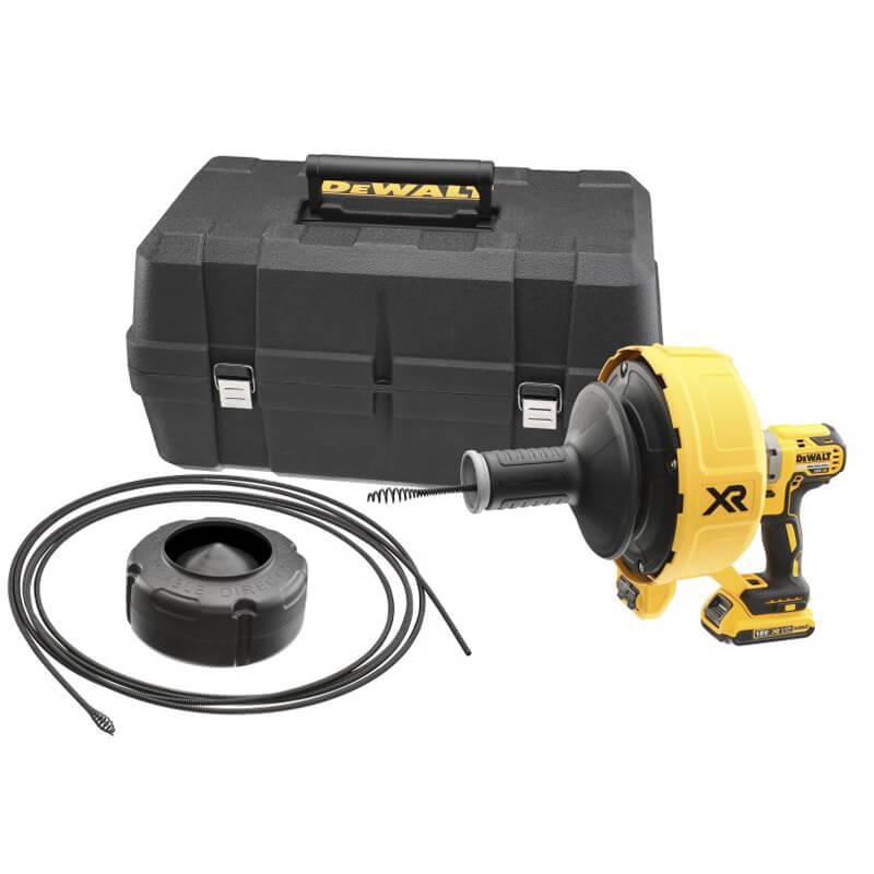 Прочистная машина аккумуляторная с бесщеточным двигателем для прочистки канализационных труб DeWALT DCD200D1