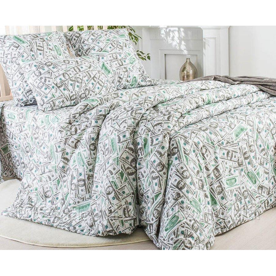 Двуспальное постельное белье Бязь Gold - Доллары