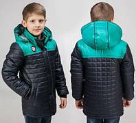 Демисезонная удлиненная  куртка  для мальчика