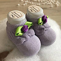 Шкарпетки з трояндочкою Бавовна р. 0-6 міс.