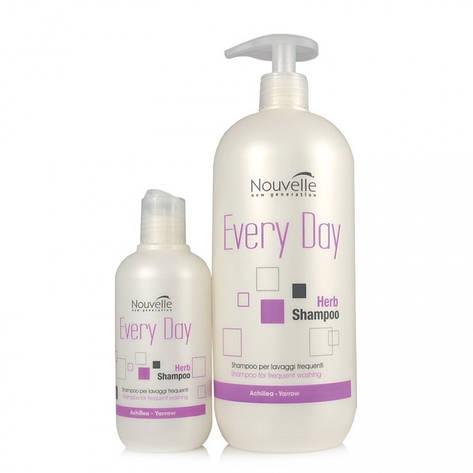 Nouvelle Regular Herbs Shampoo (Растительный шампунь для ежедневного использования 1000 мл, фото 2