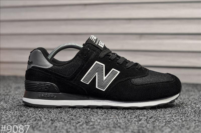 Кроссовки мужские New Balance 574 Black White.Стильные мужские кроссовки.
