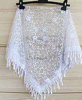Платок белый свадебный церковный ажурный 230002