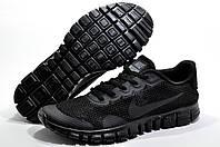 Кроссовки мужские в стиле Найк Free Run 3.0 V2, Чёрные