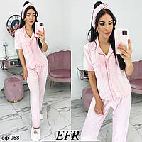 Стильный женский пижамный костюм Разные цвета, фото 1