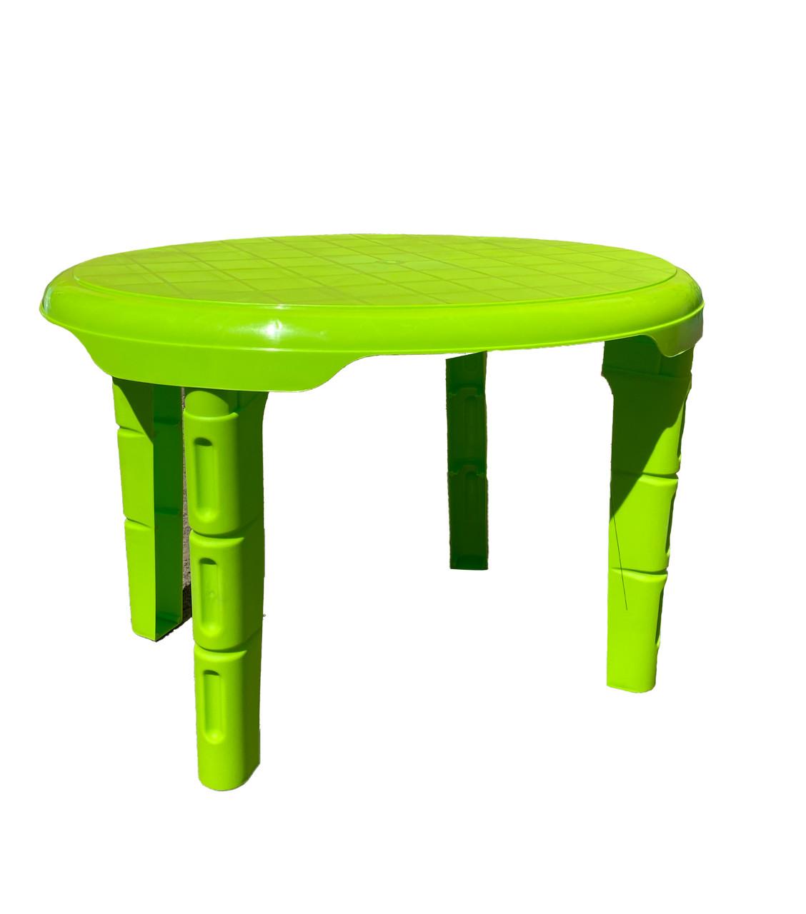Столик детский пластиковый овальным 610 * 750 САЛАТОВЫЙ Консенсус