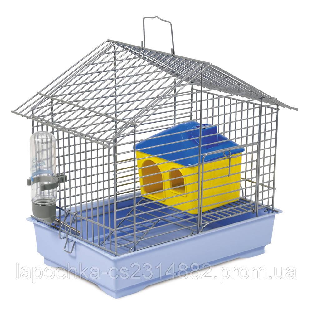 Клетка Природа Джунгарик для грызунов с домиком, 30х20х24 см