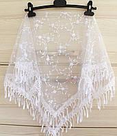 Платок белый свадебный церковный ажурный 230013