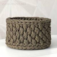 Декоративная корзинка для интерьера handmade (узор шишка) / Декоративний кошик для інтер'єру