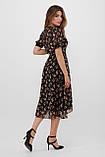 Шифоновое платье в цветочек с короткими рукавами Алеста, фото 5