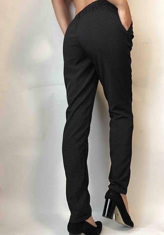 Женские летние штаны N°17 черн. горошек   (БАТАЛ), фото 2