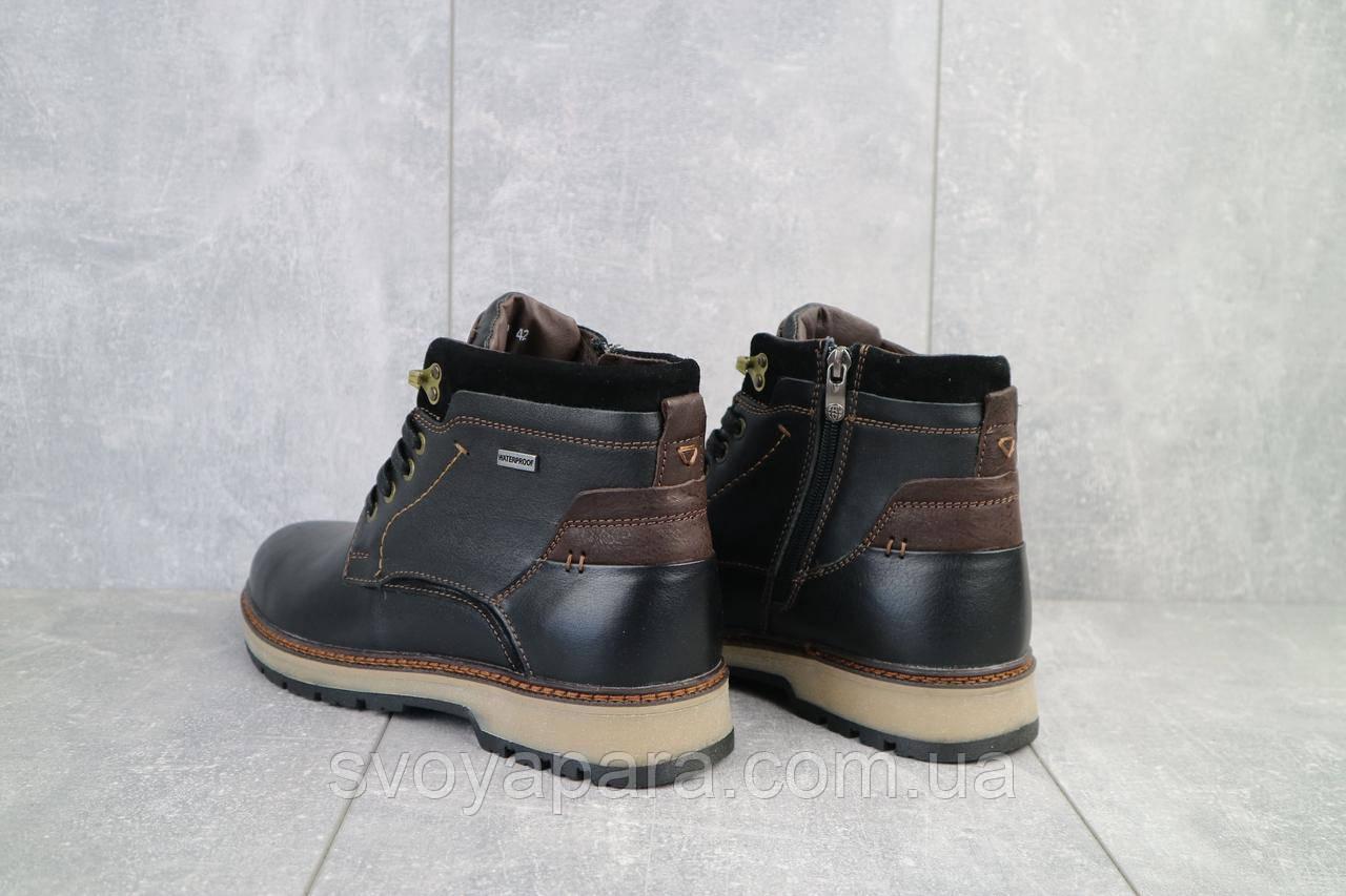 Мужские ботинки кожаные зимние черные Falcon 115/9
