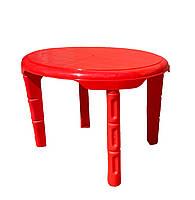 Столик детский пластиковый ОВАЛЬНЫЙ 610*750 КРАСНЫЙ, Од