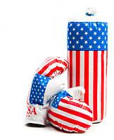 """Детский тренажер Боксерский набор """"Америка"""" с перчатками"""