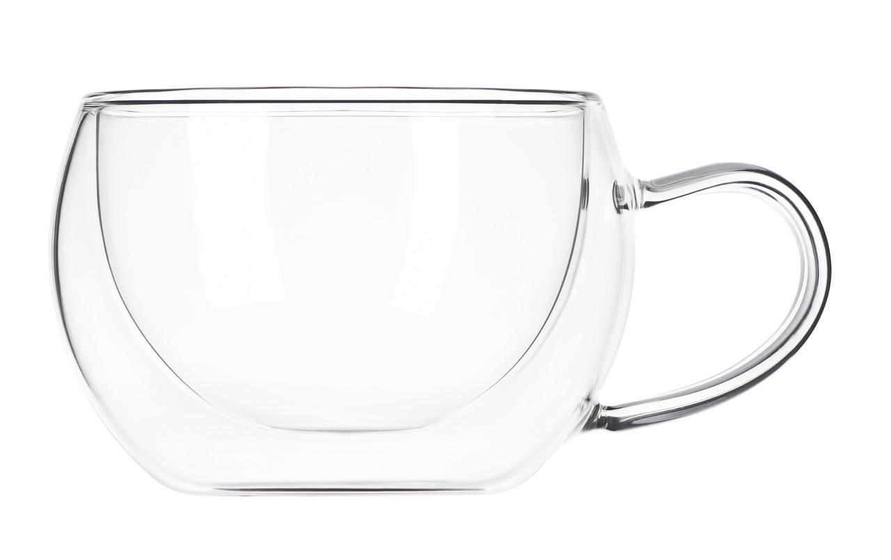 Набір чашок Ardesto 270 мл 2 шт. З подвійними стінками для лате Скло (AR2627GH)