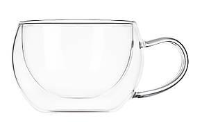 Набір чашок Ardesto 270 мл 2 шт. З подвійними стінками для лате Скло (AR2627GH), фото 2
