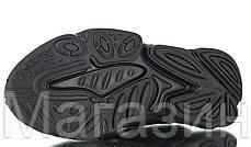 Мужские кроссовки adidas Ozweego Black (Адидас Озвиго) черные, фото 3