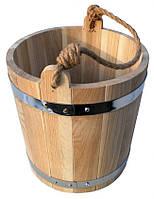 Ведро для бани 15 литров( с металлической вставкой)