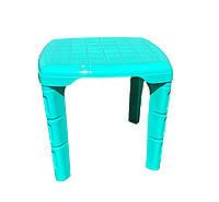 Столик детский пластиковый 560*560 БИРЮЗОВЫЙ, Од