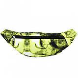 Бананка, сумка на пояс, сумка через плечо TIGER FANTASY ЗЕЛЕНЫЙ, фото 2