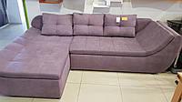 Современный угловой диван Релакс с изогнутыми сидушками