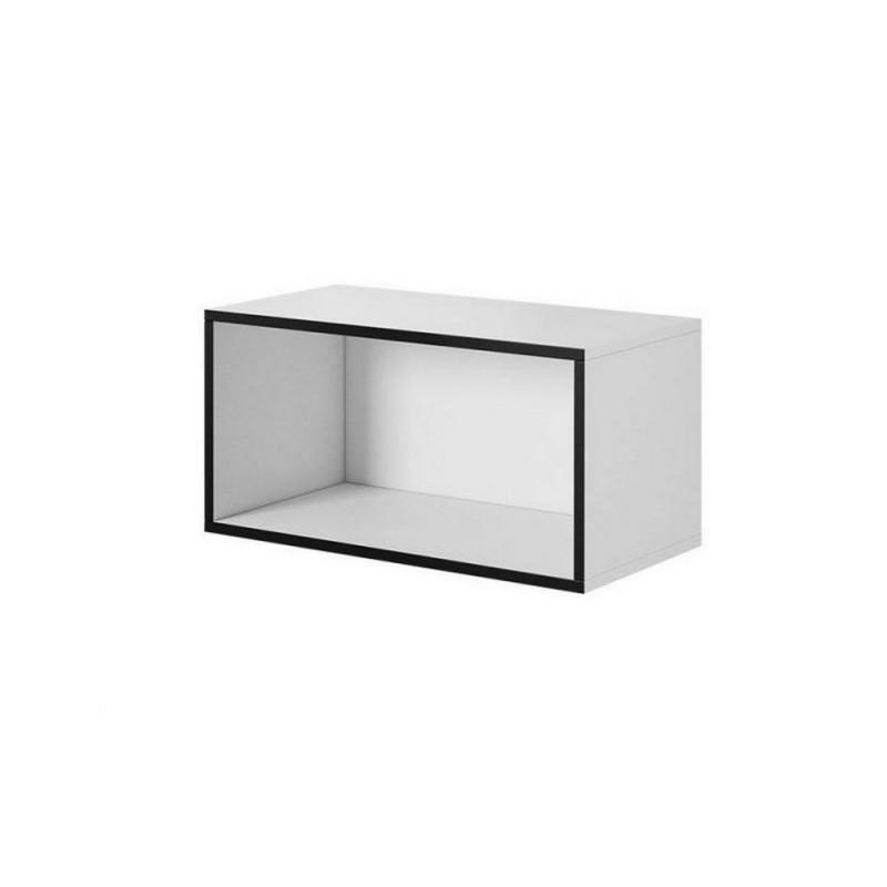 Пенал Roco RO-4 белый/черный (модульная мебель) (CAMA)