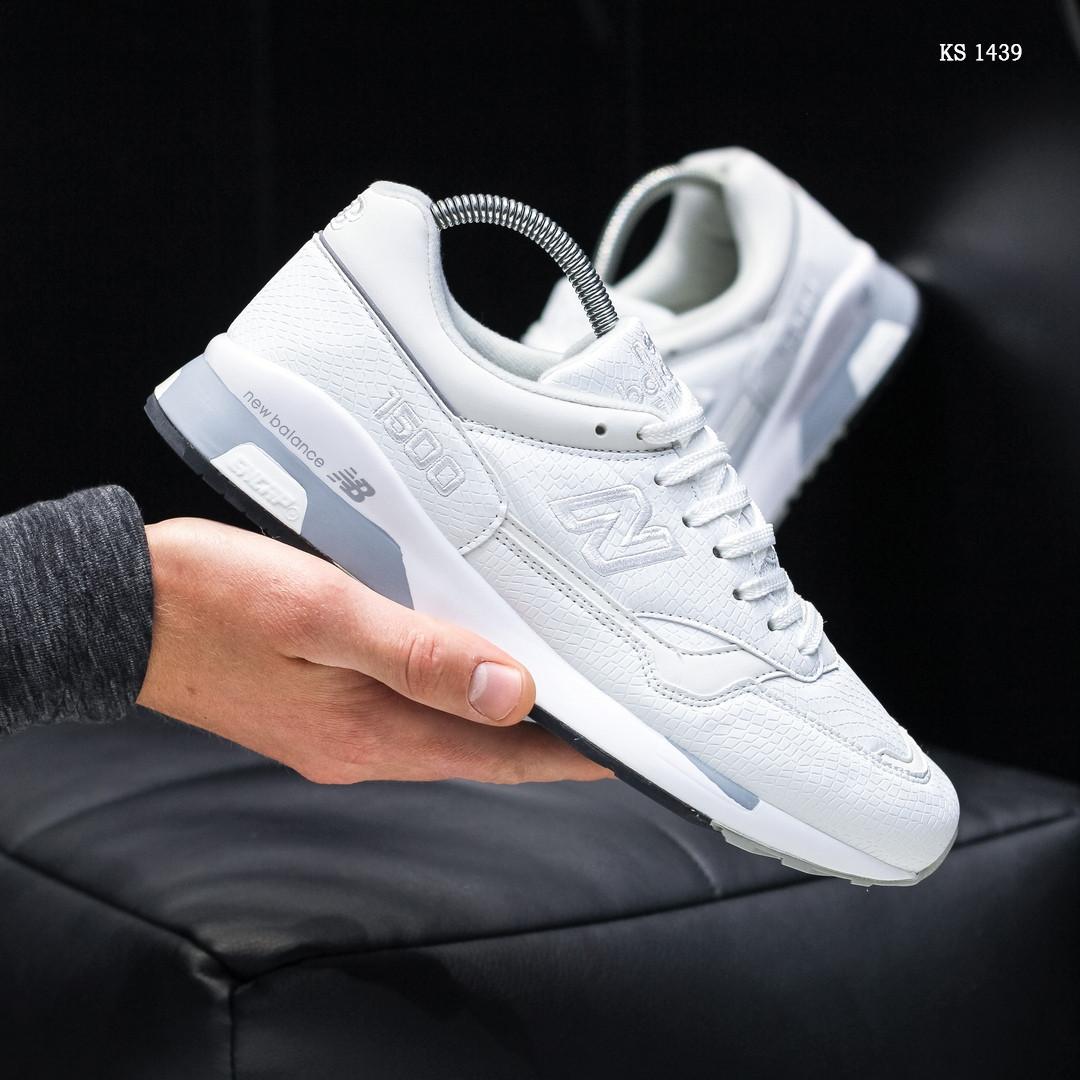 Чоловічі кросівки New Balance 1500, білі / кросівки Нью Баланс (Топ репліка ААА+)