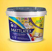 Интерьерная акриловая латексная краска моющаяся Mattlatex Nanofarb 14 кг
