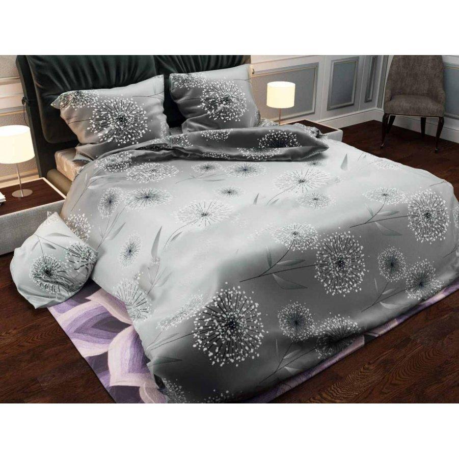 Сімейна постільна білизна Бязь Gold - Одуванчик галактика сірий 570/620 грн (ціна за 1 шт +50 грн)