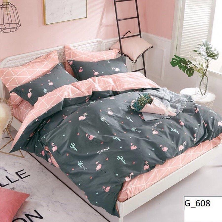 Полуторное постельное белье Бязь Gold - Домашний фламинго