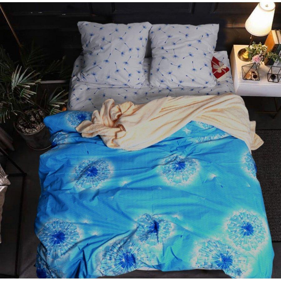 Двоспальна постільна білизна Бязь Gold - Небесний одуванчик 450/500 грн (ціна за 1 шт +50 грн)