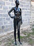 Женский черный манекен Аватар в полный рост на подставке, фото 2