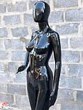 Женский черный манекен Аватар в полный рост на подставке, фото 3