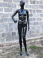 Женский черный манекен Аватар в полный рост на подставке, фото 1