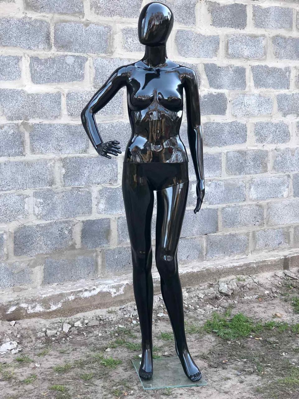 Женский черный манекен Аватар в полный рост на подставке