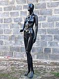 Женский черный манекен Аватар в полный рост на подставке, фото 6