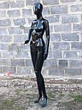 Женский черный манекен Аватар в полный рост на подставке, фото 9