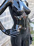 Женский черный манекен Аватар в полный рост на подставке, фото 10