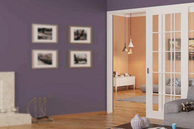 Комплект фурнітури Hafele Slido Classic 80-P, вагою дверного полотна до 80 кг, ширина  ? 592 мм